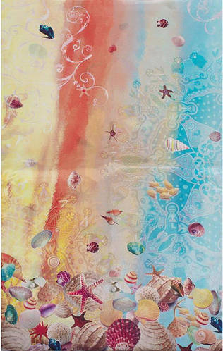 Яркий женский шелковый шарф 172*51 ETERNO (ЭТЕРНО) ES2711-25