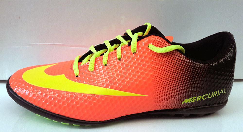 fdbf74aa Кроссовки детские Nike Mercurial футбольные оранжевые с черным NI0091