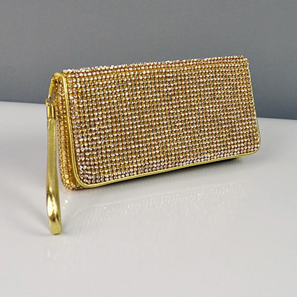 96f60e053b70 Клатч из камней женский выпускной вечерний сумка малая золото Rose Heart  3211 - Интернет-магазин