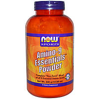 Амино-9 (Amino-9 Essentials), Now Foods, 9 незаменимых аминокислот, 330 г