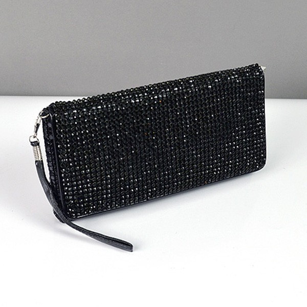 ee72ccd94d51 Клатч из камней женский выпускной вечерний сумка малая черная Rose Heart  3211 - Интернет-магазин