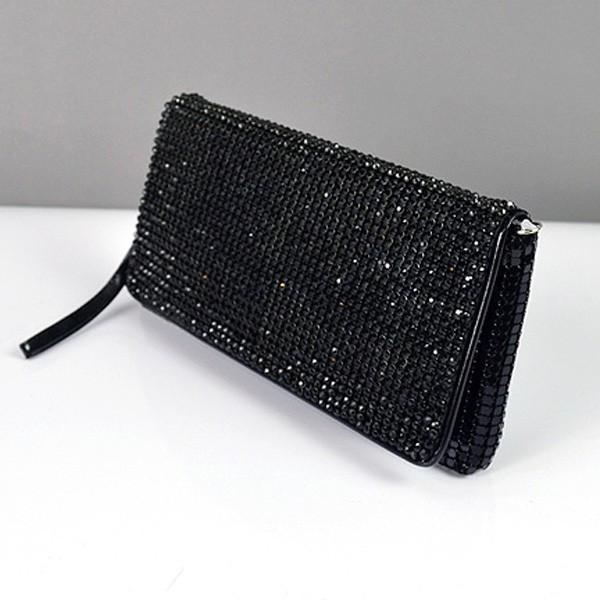 fd3f12cae1da Клатч из камней женский выпускной вечерний сумка малая черная Rose Heart  3211, ...