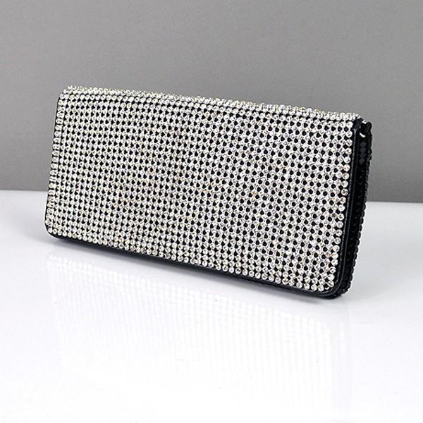 941a48b53c4c Клатч из камней женский выпускной вечерний сумка малая черная с белыми  стразами Rose Heart 3211