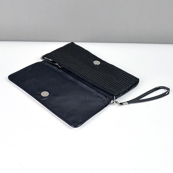 841871b8fa38 ... Клатч из камней женский выпускной вечерний сумка малая черная с белыми  стразами Rose Heart 3211, ...