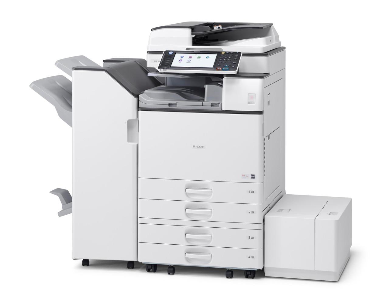 Качественный МФУ Ricoh Aficio MP 3554SP. Монохромная печать. Принтер/сканер/копир. Формат А3.