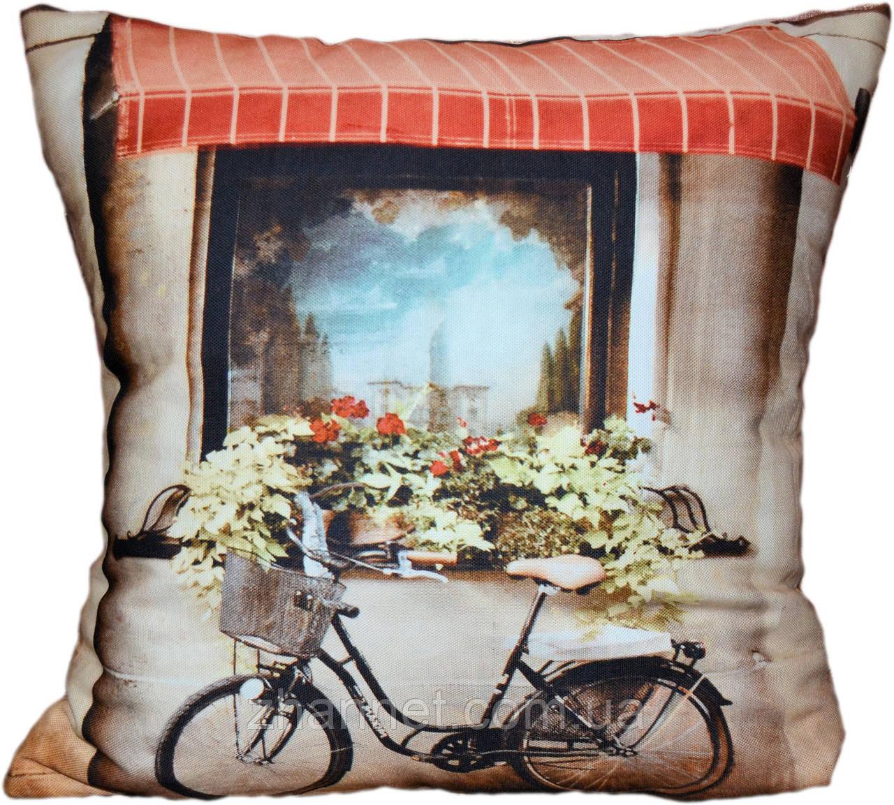 Декоративная подушка Велосипед