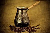Турка медная для кофе Птица 500 мл