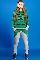 Яркий  спортивный  костюм Далия (зеленый), фото 1