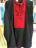 Мужская вышиванка черного цвета 52 размер