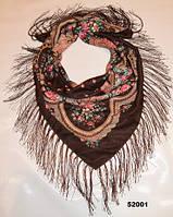 Павлопосадский шерстяной платок (52001), фото 1