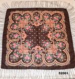 Павлопосадский шерстяной платок (52001), фото 2