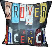 Декоративная подушка  Буквы