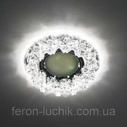 Точечный светильник Feron CD2542 с LED подсветкой (стекло)