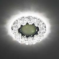 Точечный светильник Feron CD2542 с LED подсветкой (стекло), фото 1