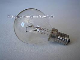 Лампа накаливания шарообразная 15D1/CL/E14 15Вт Е14 прозрачная (Венгрия)