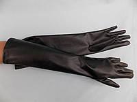 Перчатки длинные эко кожа 35см