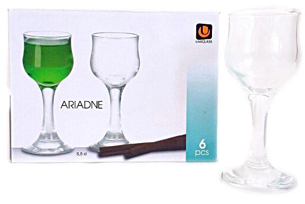 Набор стеклянных рюмок для ликера ARIADNE 55мл 6 шт.