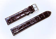 Ремінець шкіряний Bandco Genuine Leather для наручних годинників з класичною застібкою, коричневий, 20 мм
