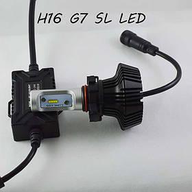 Комплект LED ламп в основные фонари серии G7 под цоколь H16 (PS24W) 24W 4000 Люмен/Комплект