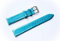 Ремешок кожаный Bandco Genuine Leather для наручных часов с классической застежкой, бирюзовый, 20 мм