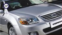 Реснички на фары Kia Cerato 2006-2010 тип2