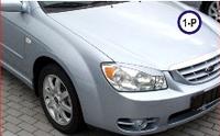 Реснички на фары Kia Cerato 2004-2006, фото 1
