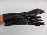 Перчатки длинные эко кожа 40см