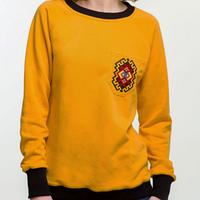Красивый женский свитшот желтый