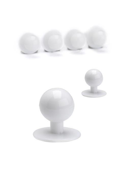 Пуговицы поварские (пукли) комплект из 10 шт. (белые)
