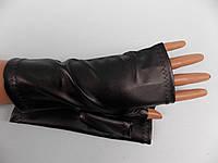 Перчатки, митенки без пальцев эко кожа