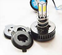 Светодиодная лампа в мотоцикл 15W COB 1100 LUMEN в основной свет H4/H7
