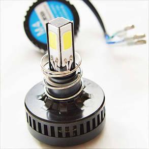 Светодиодная лампа в мотоцикл 15W COB 1100 LUMEN в основной свет H4/H7, фото 2