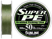 Шнур SunLine Super PE тёмно-зеленый 40LB (0,33 мм 150м)