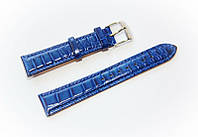 Ремешок кожаный Bros Cvcrro a Mano для наручных часов с классической застежкой, синий, 18 мм