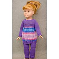 Кукольное ателье. Коcтюм Сиреневый Батик на куклу 60 см арт. 10007
