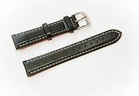 Ремінець шкіряний Bros Cvcrro a Mano для наручних годинників з класичною застібкою, чорний, 18 мм