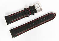 Ремінець шкіряний Bros Cvcrro a Mano для наручних годинників з класичною застібкою, чорний, 20 мм