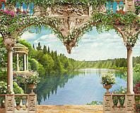 """Обои фреска на стену """"Вид на озеро"""""""