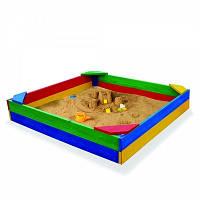 Песочница цветная деревянная 25