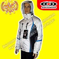 Мужская горнолыжная белая куртка «Salomon»