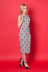 Модное удлиненное  платье из трикотажа.