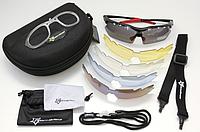 Спортивные поляризационные очки «RockBros Polarized» с 5-ти сменными линзами и защитой UV400 Чёрный