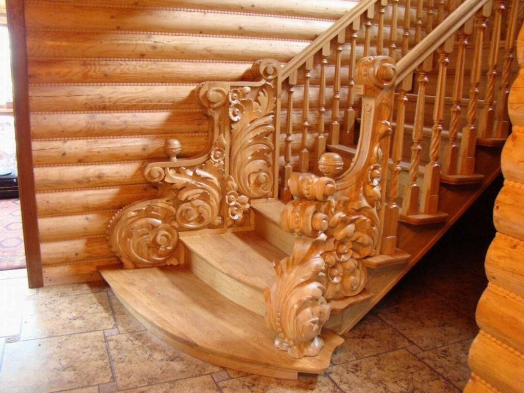 Резные деревянные перила