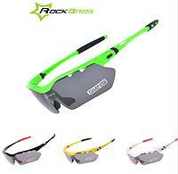 Спортивные поляризационные очки «RockBros Polarized» с 5-ти сменными линзами и защитой UV400 Салатовый