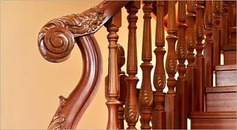Резные деревянные перила, фото 2