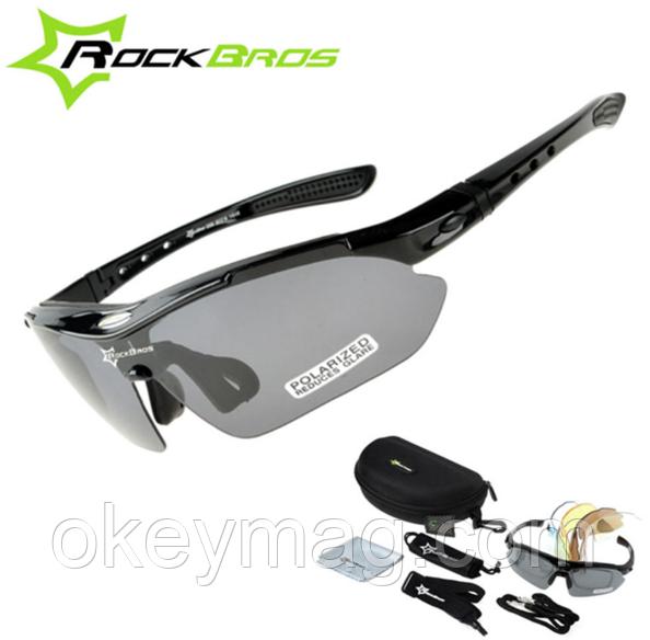 Поляризаційні тактичні окуляри для риболовлі з 5-ти лінзами і захистом UV400