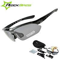Поляризаційні тактичні окуляри для риболовлі з 5-ти лінзами і захистом UV400, фото 1