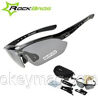 Поляризационные тактические очки для рыбалки с 5-ти линзами и защитой UV400