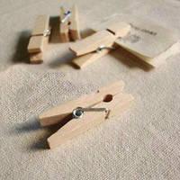 Декоративные деревянные прищепки, неокрашенные, 3,5 см