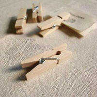 Декоративные деревянные прищепки, неокрашенные, 2,5 см